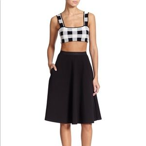 Theory Zevly Checkered Cropped Top